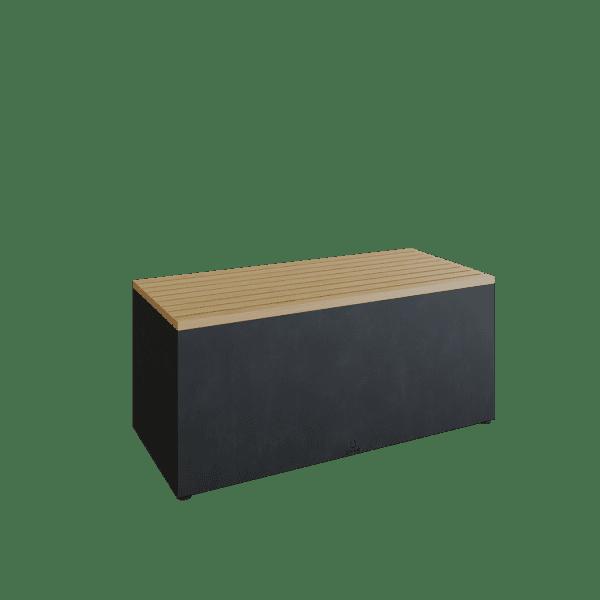 tuinbank mat zwart