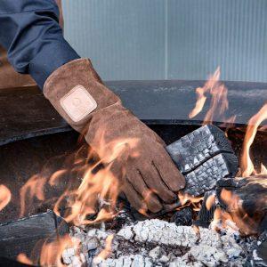 bbq vuur handschoen